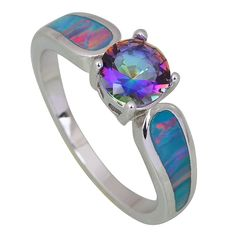 Find More Rings Information about Trendy party jewellry Fashion women' ring blue Rainbow Mystic Topaz Opal silver jewelry ring size 6 7 8 9 R411,High Quality ring ninja,China ring pop Suppliers, Cheap ring size inner diameter from Dana Jewelry Co., Ltd. on Aliexpress.com