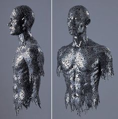 bike chain sculpture by Seo Young-Deok