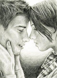 love drawing couple art