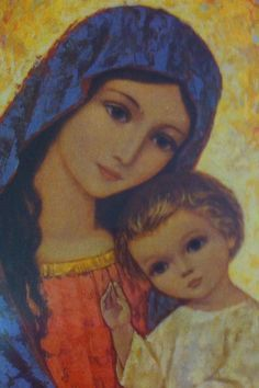 Our Mother Mary and Jesus. Religious Pictures, Religious Icons, Religious Art, Blessed Mother Mary, Blessed Virgin Mary, Madona, Images Of Mary, Religion Catolica, Queen Of Heaven