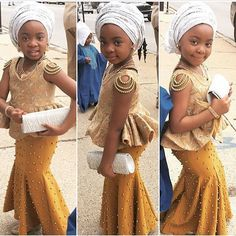 Image may contain: 3 people Baby African Clothes, African Dresses For Kids, African Print Dresses, African Print Fashion, African Fashion Dresses, African Kids, Fashion Outfits, African Wedding Attire, African Attire
