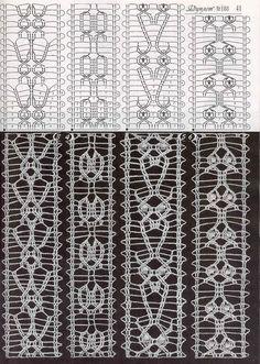 "Photo from album ""Дуплет on Yandex. Crochet Cord, Crochet Cable, Crochet Lace Edging, Crochet Borders, Crochet Stitches Patterns, Lace Patterns, Crochet Trim, Knitting Stitches, Stitch Patterns"