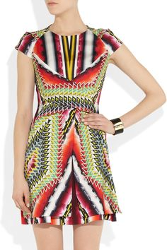 PETER PILOTTO  Che V printed stretch-silk twill dress  $1,742 (OMG! I want this dress SO BADLY!)