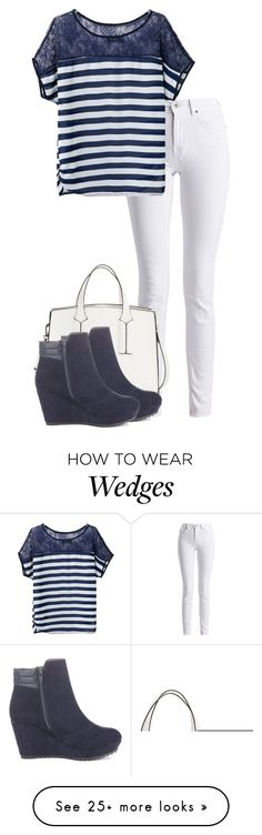 """Davina Kingsley"" by mskylie on Polyvore featuring Barbour International, French Connection and M&S"