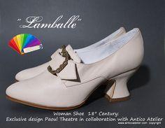 ALL COLOURS 18 century shoes  Mod. Lamballe   18 par AnticoAtelier
