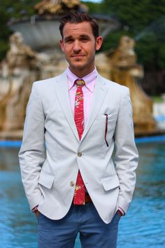 tropical preppy outfit suit summer