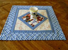 Country Kitchen Roosters Quilted Table  Topper @forgetmenotquilteds