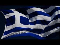 The blue of the Greek Flag symbolizes the blue sea and sky above Greece; the white represents the white clouds and waves of the sea. Ancient Greek Art, Ancient Greece, The Wonderful Country, Greek Flag, Greek Warrior, Greek Beauty, Cyprus News, Greek Culture, National Geographic Photos
