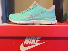 Tiffany Blue Nike Frees