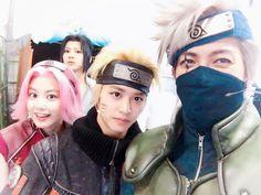 Team 7 Cosplay - Naruto, Sakura, Sasuke and Kakashi Naruto And Sasuke, Kakashi Hokage, Naruto Team 7, Kakashi Sensei, Naruto Shippuden Anime, Anime Naruto, Anime Manga, Shikamaru, Sasunaru
