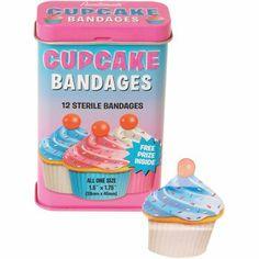 Cupcake Bandages - that will definitely make her feel better