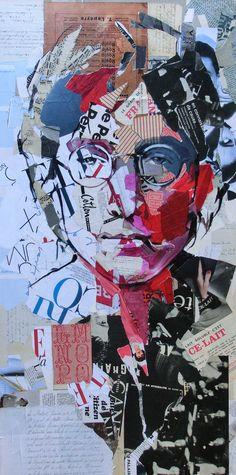 How cool is this John Lennon art? Les Beatles, Beatles Art, Art Du Collage, Mixed Media Collage, John Lennon, Journal D'art, Street Art, Newspaper Art, Inspiration Art