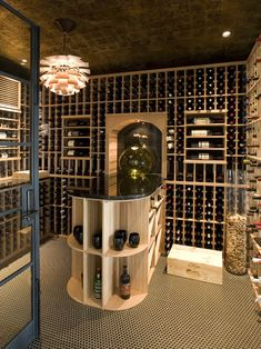 Wine Cellar with flare! #wineroom #winestorage #winecellar