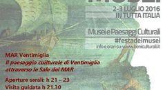 Liguria: Dal 1 luglio fino al 31 agosto orario estivo al MAR di Ventimiglia (link: http://ift.tt/299oHYK )