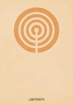 Labyrinth minimalist poster