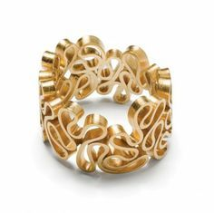 gold statement ring, folds and swirls squiggle ring irregular / natural shape emquies / holstein flamenco emquies ring guld, mulighed for . Contemporary Jewellery, Modern Jewelry, Metal Jewelry, Jewelry Art, Jewelry Gifts, Silver Jewelry, Fine Jewelry, Rhinestone Jewelry, Tassel Jewelry