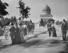 New York City: Riverside Drive in 1897 with Grant's Tomb in the background. (via:bygoneyears)