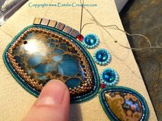 beads embroidery lesson