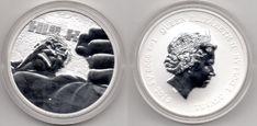 2019 Tuvalu Moneda 1 onza plata  Hulk, se sirve en capsula Hulk, Coins, Stamps, Silver