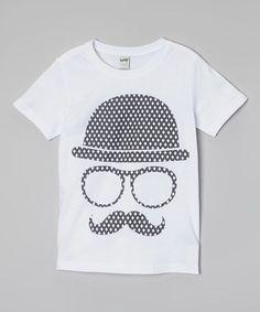 Look at this #zulilyfind! White Derby Hat Tee - Infant, Toddler & Kids by The Talking Shirt #zulilyfinds