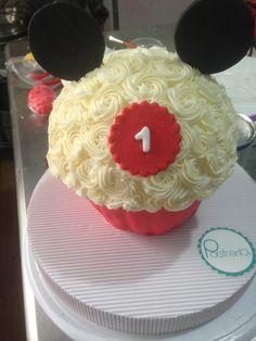 Gran Cupcake Mickey Mouse | Cumpleaños No. 1 Adrián | Postrería