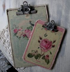 shabby chic clipboards..