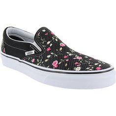 Women's Classic Slip-On Sneaker Floral Dots/Black 5 M US