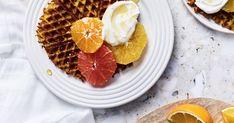 Kalifornialaiset puurovohvelit | Aamiaiset | Soppa365 Grapefruit, Waffles, Breakfast, Food, Morning Coffee, Essen, Waffle, Meals, Yemek