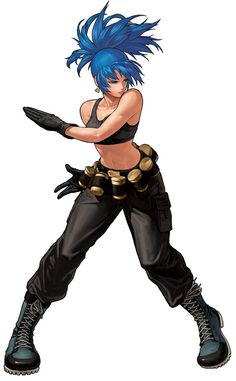 Leona Heidern from The King of Fighters XII