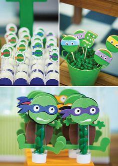 Bodacious Teenage Mutant Ninja Turtles Birthday Party: Cowabunga Treats