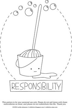 Responsibility - a free pattern by wildolive, via Flickr--Free embroidery pattern