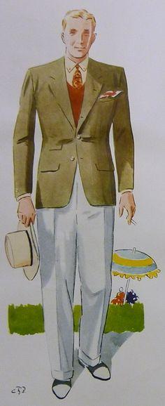 1933. Nog anar man att han har slipovern nedstucken i byxorna.