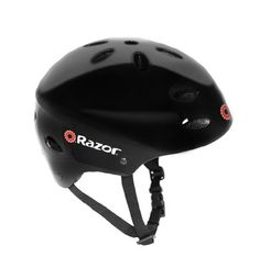 Razor V-17 Youth Multi-Sport Helmet (Black Gloss) by Razor. $19.99. Amazon.com                Uniting superior quality with a cutting-edge design, the black gloss Razor V- 17 youth multi-sport helmet is ideal for biking, skating, or any other sport that requires protective headgear. The helmet is equipped with ergonomic padding to keep the rider comfortable, along with 17 vents along the top and sides to guarantee a cool head. The side release buckles, meanwhile, make ...