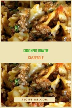 Crockpot Bowtie Casserole
