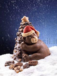 #Stampo per realizzare in cioccolato pino e orso. www.decosil.it; #Mould for Chocolate Tree. www.decosil.eu, #Moule en silicone pour chocolate. www.decosil.fr