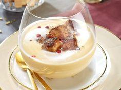 Recette de Velouté de cocos blanc et de foie gras poêlé : la recette facile