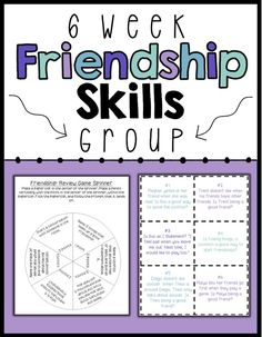 Friendship Skills Small Group – NO PREP Friendship Skills Small Group – NO PREP,Feelings A 6 session, no-prep, social skills group plan focused on friendships skills including making friends, maintaining friendships and conflict resolution. Social Skills Lessons, Social Skills Activities, Teaching Social Skills, Counseling Activities, Social Emotional Learning, Coping Skills, Therapy Activities, Life Skills, Group Counseling