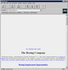 Early Boeing website