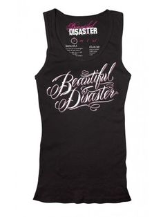 """Women's """"Scripty"""" Tank by Beautiful Disaster (MORE COLORS AVAILABLE)"""