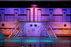 Anything Goes set Anything Goes Musical, Boat Props, Set Design, Design Ideas, Cabaret, Musical Theatre, Anchors, Plays, Musicals