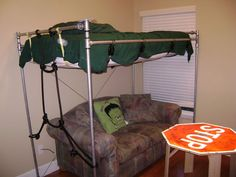 Picture of Pipe Loft Bed - Galvanized Steel