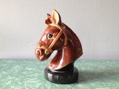 vintage ceramic horse bank. retro home decor.   ReRunRoom  