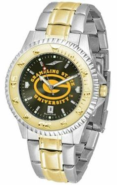Grambling State Tigers NCAA Mens Two-Tone Anochrome Watch SunTime. $93.95. Officially Licensed Grambling State Tigers Men's Stainless Steel and Gold Tone Watch. Men. Two-Tone Stainless Steel. AnoChrome Dial Enhances Team Logo And Overall Look. Links Make Watch Adjustable