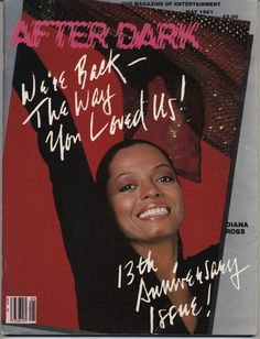 after dark magazine covers | Diana Ross 1981 | After Dark magazine covers | Pinterest
