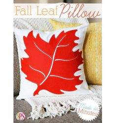 Tutorial: Easy appliqued fall leaf pillow