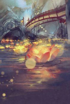 Post with 5168 votes and 188070 views. Change of Scenery Fantasy Landscape, Landscape Art, Fantasy Kunst, Fantasy Art, Fantasy Drawings, Yuumei Art, Arte 8 Bits, Anime Kunst, Land Art