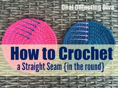 Do your seams veer off to the left or right when you crochet in the round? Here's my trick to crochet a straight seam, with just ONE change.