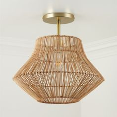 Our rattan ceiling light will bring the beauty of natural materials to your kid's room while brightening up the space. It features gorgeous handmade rattan in a basket-style weave with a metal frame for strength and longevity. Nursery Lighting, Dining Room Lighting, Kids Lighting, Lighting Ideas, Park Lighting, Entryway Lighting, Entryway Ideas, Kids Ceiling Lights, Room Lights
