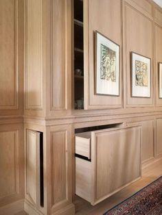 Home Hidden Storage Cabinetry Shelf Wall Panelling Furniture Room Hidden Spaces, Hidden Rooms, Small Spaces, Hidden Shelf, Built In Storage, Hidden Cabinet, Storage Shelves, Hidden Gun, Door Shelves