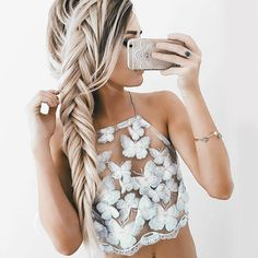 Summer Sexy White Mesh Lace Crochet Bralette Bustier Crop Top Women Casual Hollow Short Camis Tank Tops - Crystalline